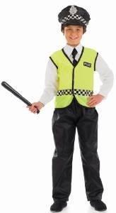 Imagen de policía  niños disfraz  xl  148 cm
