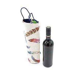 Geschenkverpackung Flasche, Flaschentasche, Weintasche, Flaschentasche mit Federprint