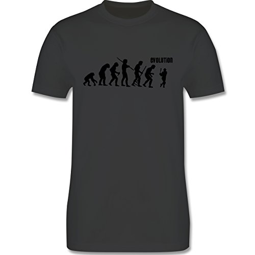 Evolution - Baseball Evolution - Herren Premium T-Shirt Dunkelgrau