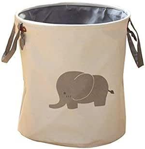 portabiancheria porta giocattoli Elefante grigio. Cesto portaoggetti per la stanza dei bambini