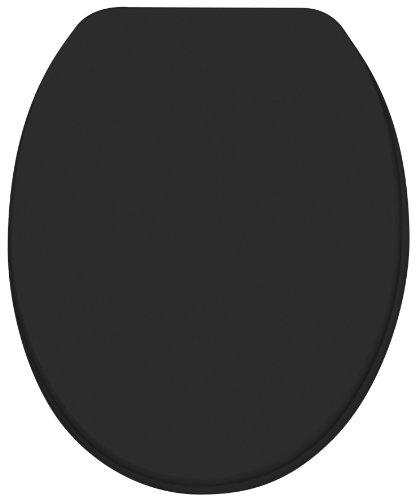 Diaqua 31170080 WC Sitz Paris Slow Motion, MDF FSC 100 {f702a455f341df037ff21b5dd07da7ac6ae224dcfeaf25cf916abf75a7a16390}, 42 bis 47 x 37.2 cm, schwarz