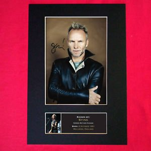 STING reproduction autograph Signed Photo Mounted Reproduction Print