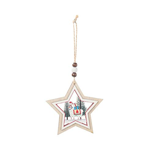 TARTIERY Wooden Hanging Ornaments Für Weihnachtsbaum Schneeflocke Hanging Christmas Ornaments Party Baumschmuck Party Weihnachtsdekoration (Sport-ornamente, Weihnachten)