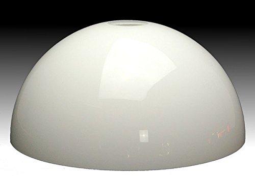 LMS Leuchten Beleuchtungsglas F-4031 Opal-Weiss H 11 cm/Ø 25,5 cm Lampenschirm Glas Jugendstil...