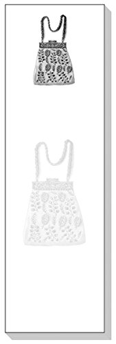 Ars Antigua Slim Schreibblöcke (Notizblock) • Vintage Handtasche • Gravur 1900 • Zwei Blöcke mit je 50 Blatt - insgesamt 100 Blatt bedruckte Blätter -