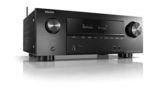 Denon AVR-X2600H 7.2-Kanal AV-Receiver, Hifi Verstärker, Alexa Kompatibel, 8 HDMI Eingänge und 2 Ausgänge, Bluetooth und WLAN, Musikstreaming, Dolby Atmos, AirPlay 2, HEOS Multiroom