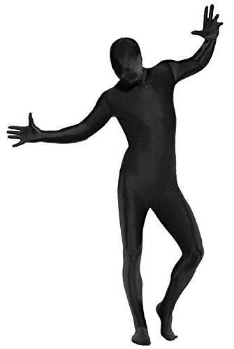 Nerd Clear Ganzkörperanzug für Männer und Frauen | Second Skin Suit Verkleidung - ideal für Karneval und Fasching | Maximale Bewegungsfreiheit: Farbe: Schwarz