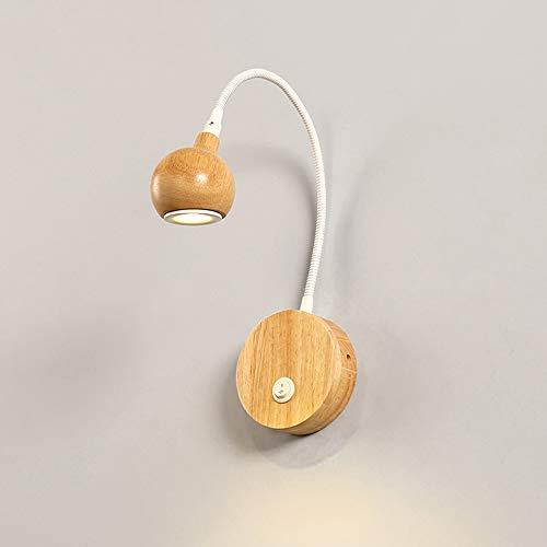 Nordic Wandleuchte Modern minimalistisch kreativ Schlafzimmer Nachttischlampe Wohnzimmer Arbeitszimmer Balkon Treppe Gang Log Leuchte -