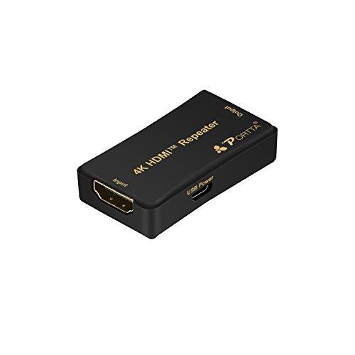 Portta HDMI Repeater Verstärker v1.4 4k x 2k 30Hz Verlängerung bis 45m Unterstützung 3D PS4 DVD HDTV (Ir-booster)
