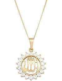 Remi Bijou precioso Cadena + Colgante Nombre allahs en árabe Islam Muslim–oro color brillantes