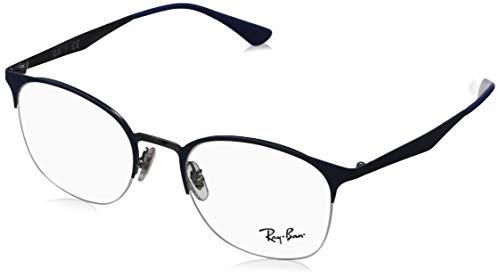 Ray-Ban Damen 0RX6422 Brillengestelle, Blau (Gunmetal On Top Matte Blue), 49