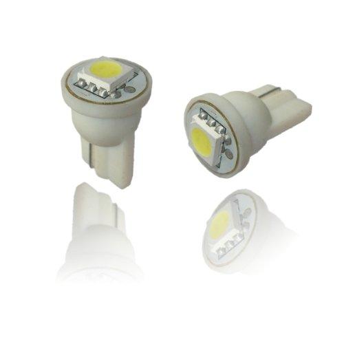 T10SW - Blanc SMD LED lampe ampoule de rechange feux de position W5W T10 12V éclairage de plaque d'immatriculation éclairage intérieur avec 5050 SMD