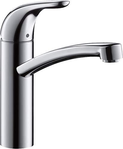 hansgrohe Focus E Einhebel-Küchenmischer, Komfort-Höhe 155mm, für offene Warmwasserbereiter, chrom