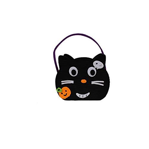 Halloween Trick or Treat Taschen mit Katze-Form oder traditionelle Halloween Candy Bag Ideal für Kinder ()