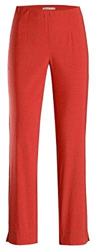 Stehmann LOLI-742 bequeme, stretchige Damenhose, mit schmalem Bein Rot