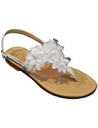 Amazon.it  sandali bianchi - Moda Positano   Scarpe  Scarpe e borse 8813908f14f