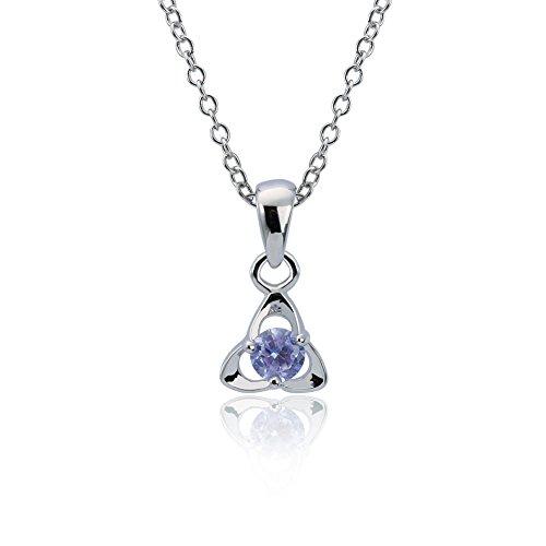 Elegance Parisienne Collana Blu Ciondolo Triangolo | Swarovski Elements | 18K Oro Piastra | per Donne Bambini Ragazze | Fashion Elegante Cristallo Love Moderno Moda Fashion
