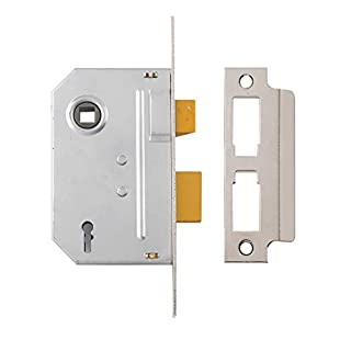 Yale P-M320-CH-65 3 Lever Mortice Standard Security, Chrome Finish, Sashlock - 2.5 Inch/64 mm