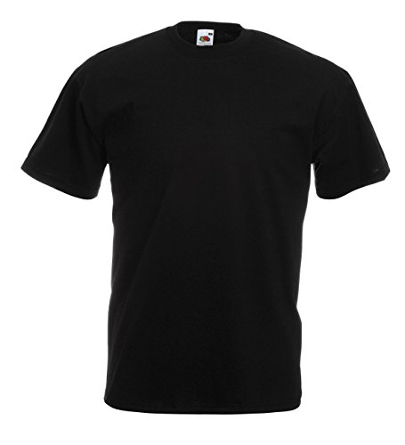 Bereich Herren T-shirt (10 Fruit of the Loom T-Shirt S-XXXL in verschiedenen Farben XL,Schwarz)