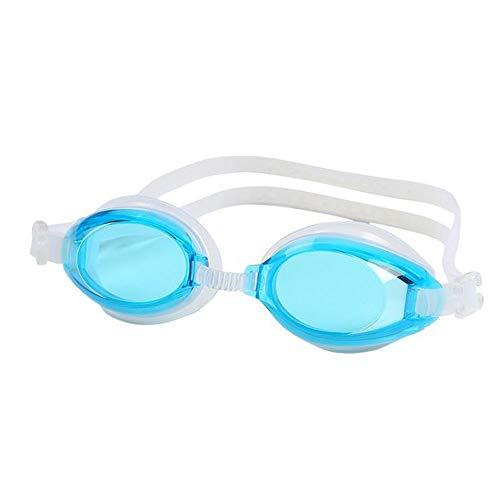 Szblk Tauchspiegel Wasserdicht Anti-Fog Anti-UV Schwimmen 400 Schutz Transparente Linse HD Brille Ohrstöpsel Geeignet zum Tauchen Schwimmen (Color : Light Blue)