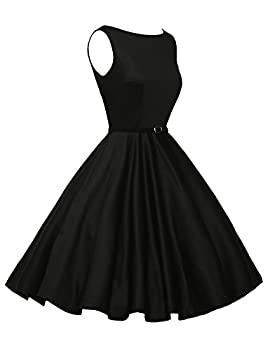 Classy Vintage 1950's Audrey Hepburn Style Rockabilly Swing Picnic Party Prom Dress Medium Color 13 2