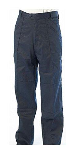 Marineblau Poly Baumwolle Combat Stil Arbeit Hosen-, 48/127cm hoch, 3x große Größe