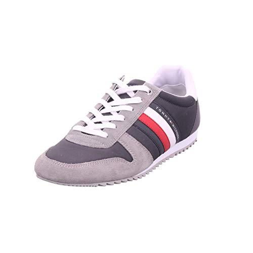 Tommy Hilfiger Essential Nylon Runner Herren Sneaker Grau