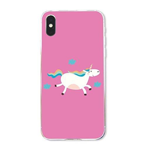 finoo | Iphone X Hard Case Handy-Hülle mit Motiv | dünne stoßfeste Schutz-Cover Tasche in Premium Qualität | Premium Case für Dein Smartphone| Einhorn Überall Einhorn Pferd