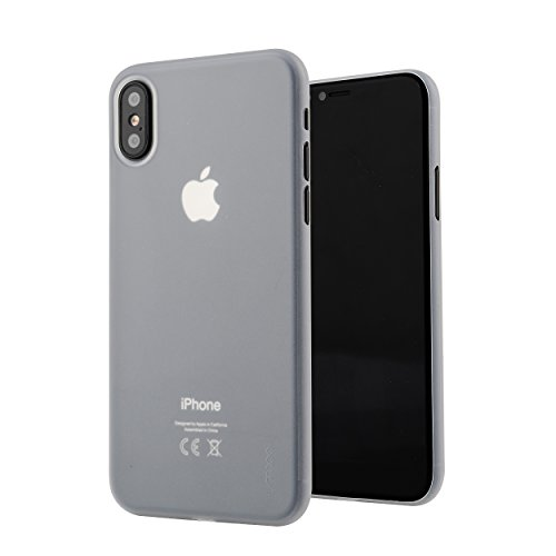 iPhone X Hülle ultra dünn, Liamoo® Case [ unterstützt kabelloses Laden ] in matt weiß [ 0,35 mm slim | 4g leicht ] dünnste Handy-Cover mit Kamera-Schutz für Apple iPhone 10