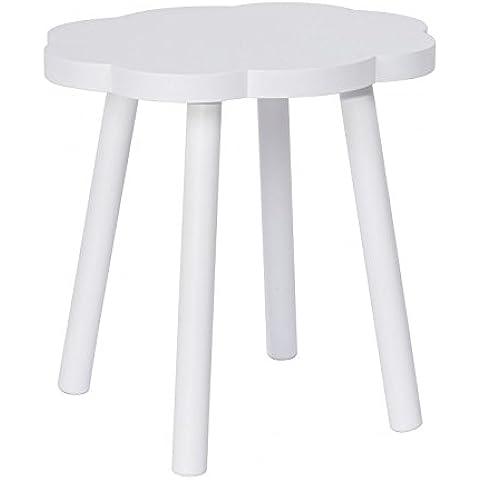 Taburete diseño Infantil Nube - blanco