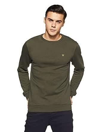 Allen Solly Men's Sweatshirt (ASSTORGPK27847XXL_Olive 19-0414 TCX)