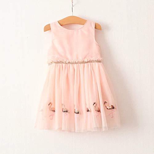 Alter 0-13 jahr Kinder Kleidung Kleidung Kleinkind Kostüm Sommer Flamingo Party Spitze Prinzessin Elegante Pailletten Kinder Kleider Mädchen 100 cm Länge