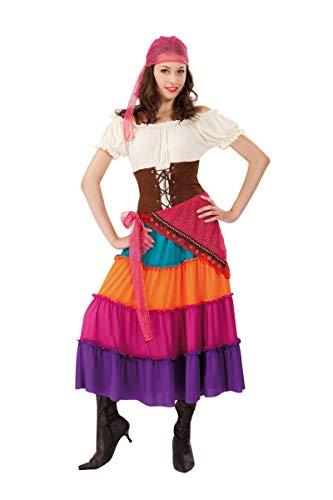 Chaks c4124l, Kostüm Gipsy Damen Erwachsene, Größe L (Promo AF) (Gipsy Kostüm)