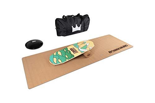 BoarderKING Indoorboard Limited Edition Berge Skateboard Surfboard Trickboard Balanceboard Balance Board (Oktagon Bundle, 100 mm x 33 cm (∅ x L))