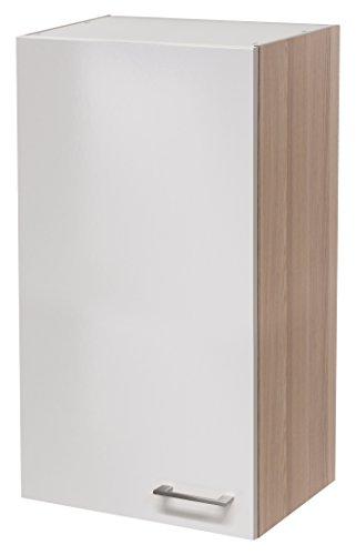 Flex-Well 00007134 Oberschrank Abaco Perlmutt glänzend, Akazie 50 x 89 x 32 cm