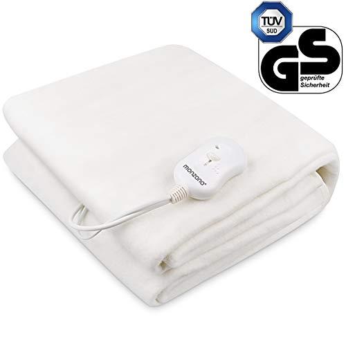 Deuba Wärmeunterbett 190 x 80cm oder 160 x 140 cm Heizdecke elektrisch Waschbar bis 40° 3 Temperatur-Stufen Überhitzungsschutz