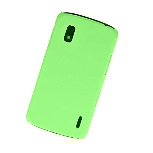WOW Imagine(TM) Rubberised Matte Hard Case Back Cover For GOOGLE LG NEXUS 4 (Green)  available at amazon for Rs.145