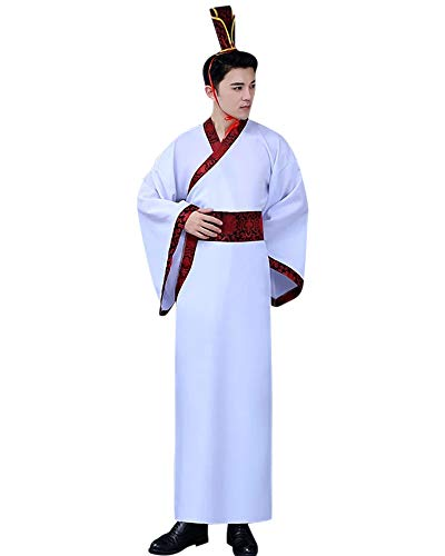 Männer Nationalen Kostüm - KINDOYO Chinesisches National Traditionell Kostüm - Männer Hanfu Uralt Chinesischer Stil Klassik Retro Kleidung Cosplay Abschluss Drama Kostüm, Stil 13, EU M = Tag L