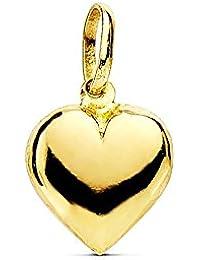 Colgante oro 18k corazón 10mm liso [AB1757]
