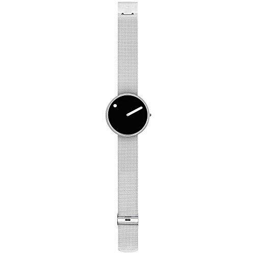 Picto Herren-Armbanduhr Analog Quarz One Size, schwarz, silber