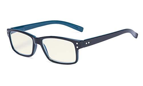 Eyekepper Computerbrille UV-Schutz Blendschutz/Blaue Strahlen Brille Schwarz in Blauer Arm +0.00