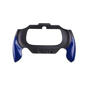 OSTENT Flexible Joypad Bracket Halter Hand Griff Grip Kompatibel für Sony PS Vita PSV PCH-2000 – Farbe Blau