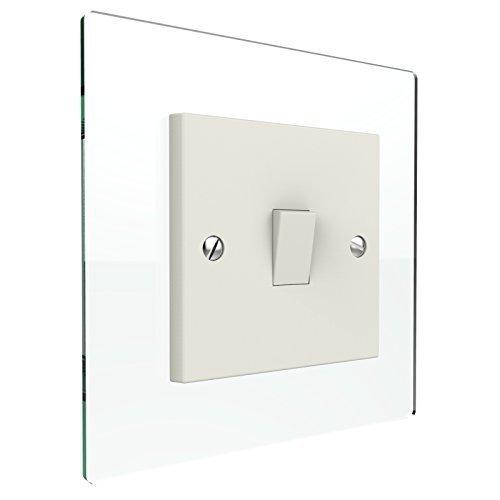 displaypro single double light switch surround acrylic finger plate panel plug socket glass effect