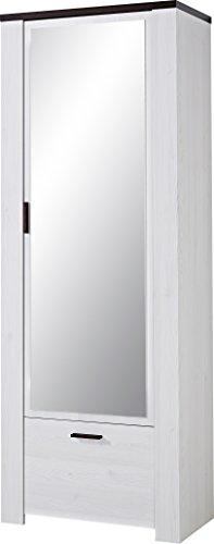 Germania 3510-230 Garderobenschrank GW-Havanna in Lärche-Nachbildung/Eiche-Havanna-Nachbildung, 74 x 199 x 40 cm (BxHxT)