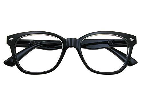 GL2268 Josey Black Unisex Cat's Eye Retro Reading Glasses Goodlookers +1.0, +1.5, +2.0, +2.5, +3.0 (+1.00)