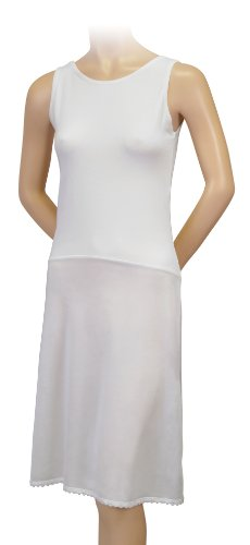 Gemsli Damen Unterkleid 41 inches White
