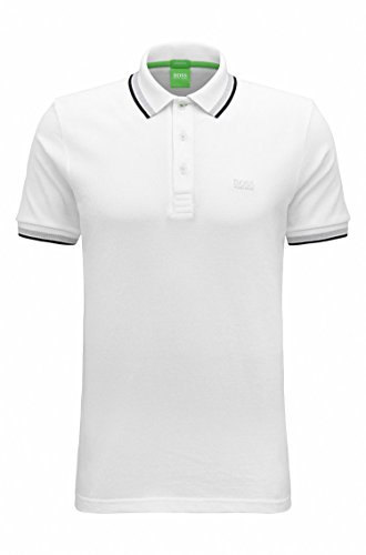 HUGO BOSS Poloshirt Herren Poloshirt Paddy Green Label Größe S-XXL Weiß