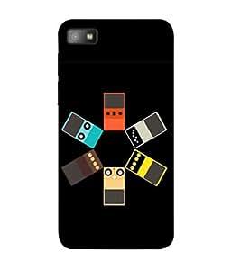 PrintVisa Designer Back Case Cover for BlackBerry Z10 (Design Photo White Background Cover Pouch)