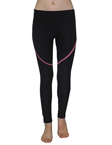 bally-total-fitness-damen-pantalon-de-sport-professionnelles-leggings-yoga-xl-noir