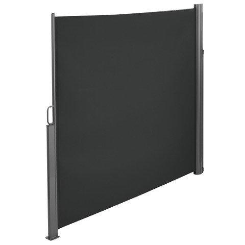Brubaker Seitenmarkise Maui für Balkon und Terrasse - Ausziehbar - Aluminium - grau - 300 x 180 cm